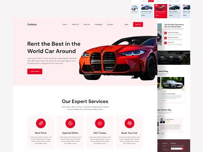 Car Rental Services Website Design web expert web landing page web case study user interface uiux design ui experience web experience car web ui uiux web design designer design