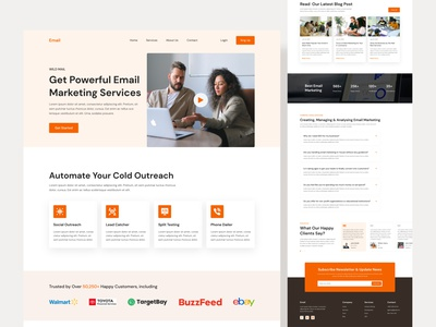 Email Marketing Landing Page Design user experience user interface email marketing business case study ui experience web experience ui expert uiux design web expert ui uiux web design designer design