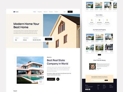 Real Estate Landing Page Design hotel rent web page web designer ui experience web experience uiux designer ui expert web expert user interface case study real estate landing page ui uiux web design designer design