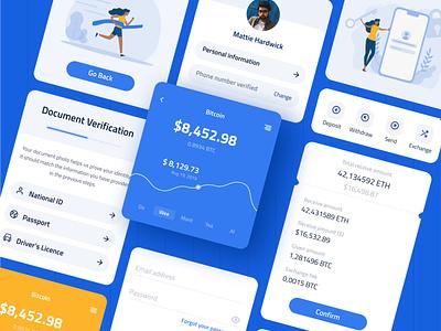 Whollet - Free UI Kit Crypto Wallet blockchain ui kit wallet crypto