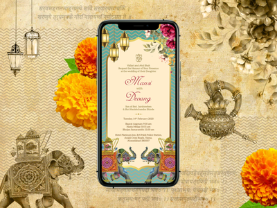 Indian Wedding Cards Designs Themes Templates And Downloadable Graphic Elements On Dribbble