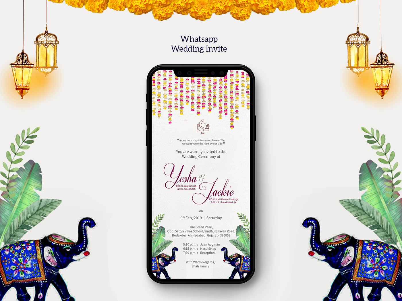 Whatsapp Wedding Invite By Maurvi On Dribbble