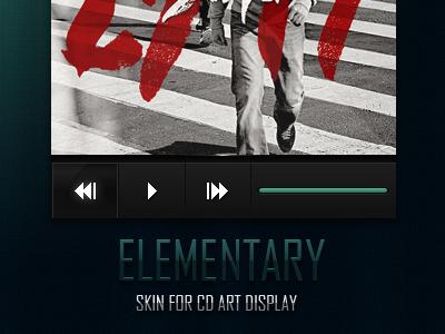 Elementary elementary cd art display cad case ui user interface skin