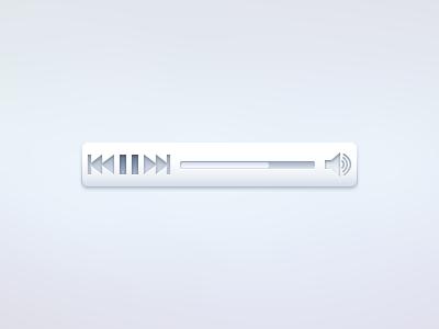 Media Control ui gui music media audio control play pause next previous track volume
