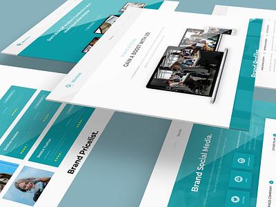 Web UI Design - WORKON ui web ui modern corporate design business professional graphic creative website graphic design ui kits