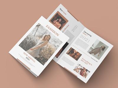 Bi-fold Brochure - Fashion product simple modern sales adobe illustrator vector template business fashion professional creative flyer brochure
