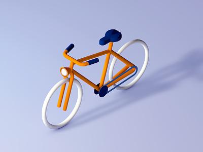 Bicycle 3d wheels seat light gears chain bicycle bike cinema4d