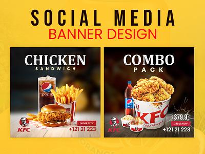 Social Media Banner Design fast food instagram post design fb post design post design facebook instagram facebook ads advertisement ads creative ads design banner design banner social media banner