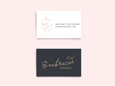 Embraced Podcast Female Empowerment Business Cards