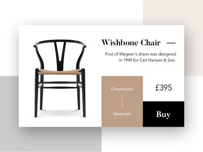Wishbone Chair - Product Card