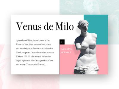 Venus de Milo - Information Card UI