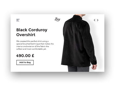 Bey - Product Detail Page