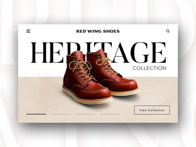 Red Wing Shoes - Website Concept Design