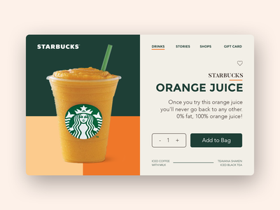 STARBUCKS - Product Detail Page