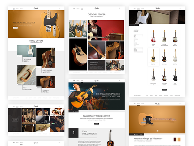 Fender - Inspirational Website Concept