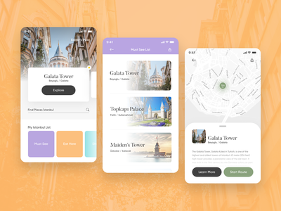 City Guide App of Istanbul // Adobe XD Playoff