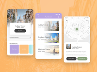 City Guide App of Istanbul - Adobe XD Playoff