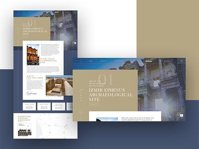 Museum Pass Website - Detail Page (Ephesus) grid font web izmir history site design clean website layout minimal turkey ephesus museums historical ui