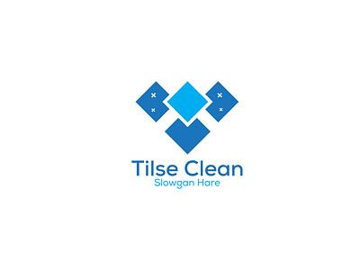 Tilse Cleaning Logo Design logo illustration design creative  design creative design minimal logo design graphic design company logo creative logo design business logo