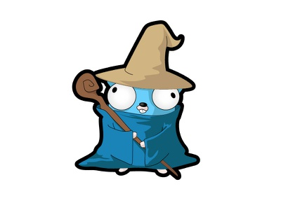 Gopher Mage vector cartoon commission golang mage gopher logo programming go