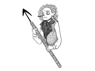 Ishmael sketchbook pro mascot character black and white sketch illustration ishmael programming code docker