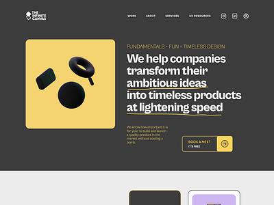 The Infinite Canvas Website Concepts ux design design ui design uiux uxdesign theinfinitecanvas designagency web design webdesign productdesign