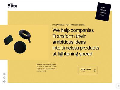 The Infinite Canvas website Design (Final) profile page social networking app darkmode social media design uxdesign uidesign designagency webdesign theinfinitecanvas productdesign