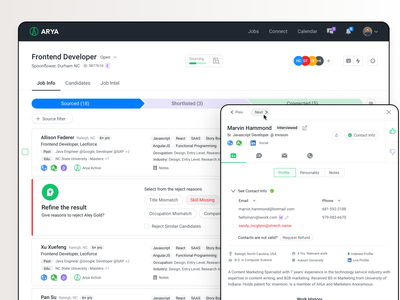 Candidate List Page ux social media design uxdesign theinfinitecanvas productdesign jobs joblisting job boards resume job application hire candidate hiring tool airecruitment airecruitmenttool hiring recruting recruitment candidates