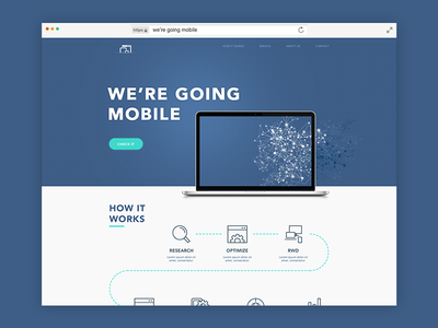 We Re Going Mobile Landing Page