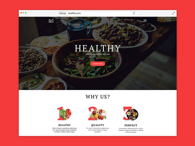 Healthy Landing Page