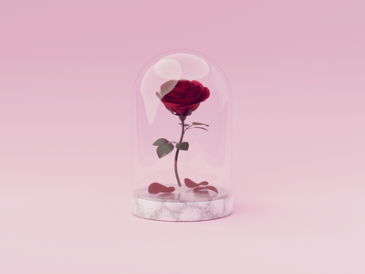 Day 63-65 Enchanted Rose petal beauty and the beast rose fanart blendercycles blender 3d 100daysof3dbytx 100daysof3d the100dayproject