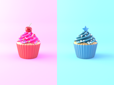 Day 11-14 Cupcakes 1on1off mrsorbias cupcake blendercycles blender 100daysof3dbytx 100daysof3d 3d the100dayproject