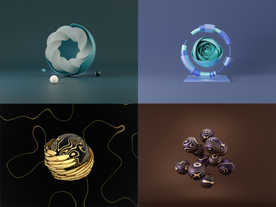 Day 44-48 Abstract Series modifier abstract ducky3d blendercycles blender 100daysof3dbytx 3d 100daysof3d the100dayproject