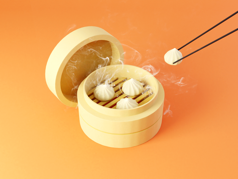 Day 77-79 Soup Dumpling chinese food dim sum xiao long bao soup dumpling blendercycles blender 3d 100daysof3dbytx 100daysof3d the100dayproject