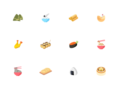 Asian Food Icon Set