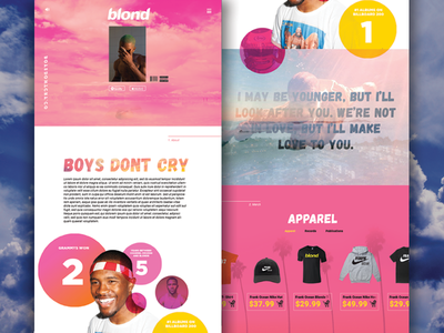 Boys Don't Cry Landing Page