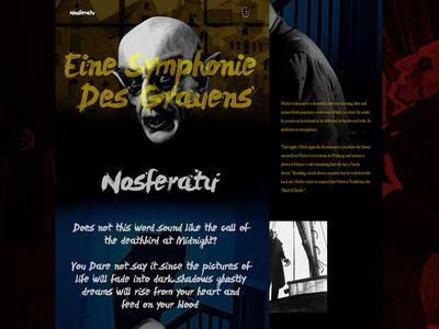Mocktober Concept - Nosferatu