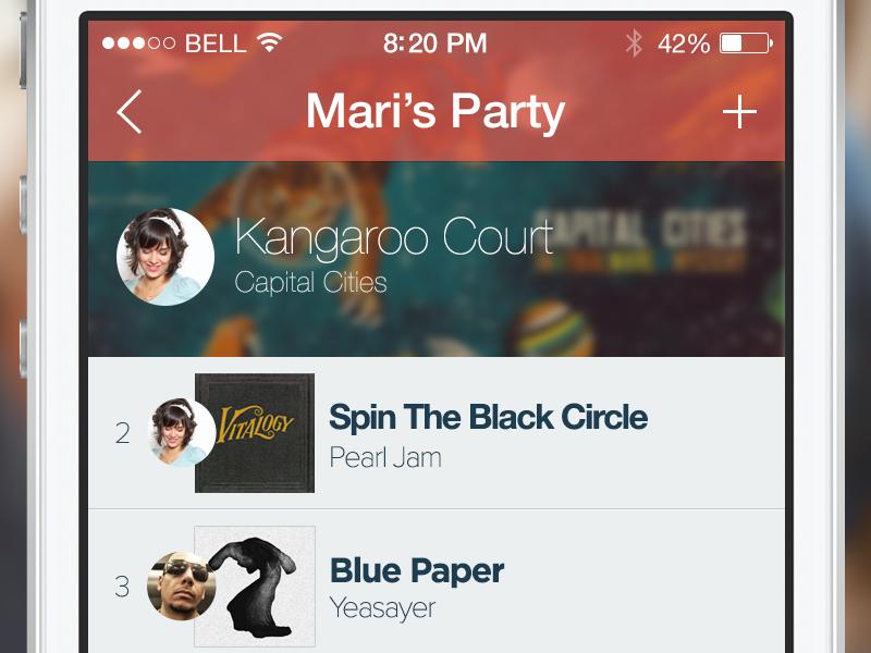 Team Play - ios7 ios7 music app iphone ios list