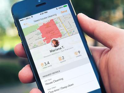 New lead! lead thumbtack ios app ui profile