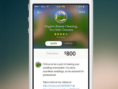 Thumbtack Quote ios app thumbtack profile