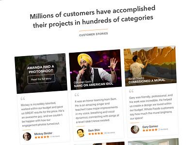 Homepage thumbtack homepage home ui
