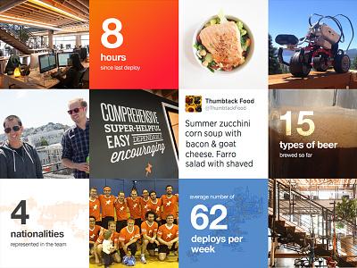Fun Facts about Thumbtack web fun grid thumbtack stats mosaic