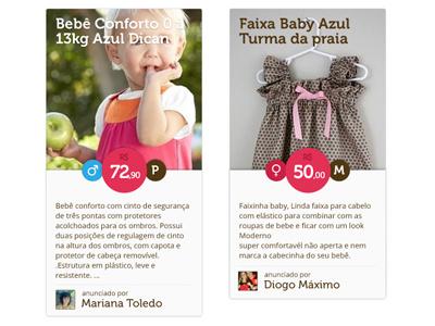 Baby's clothes shop ui interface shop baby