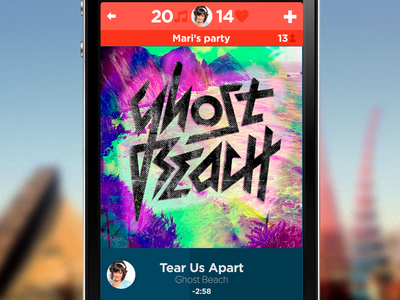 What's playing now flat design music player indie rock app iphone