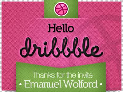 Dribbble thanks! dribbble invitation pink green thanks jackypow debut guatemala