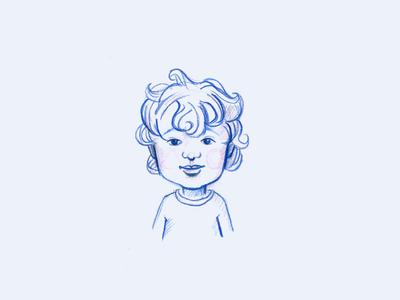 Portrait of O. kid portrait boy illustration drawing colorpencil analogue
