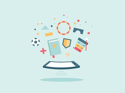 Illustration for an app company play soccer joy toys vector app ipad