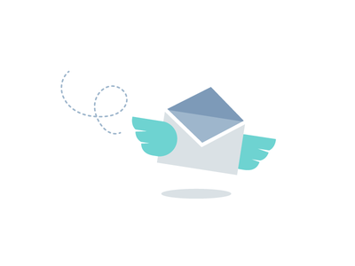 Flying Email send vector mail flying email