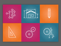 Icons for a tech university