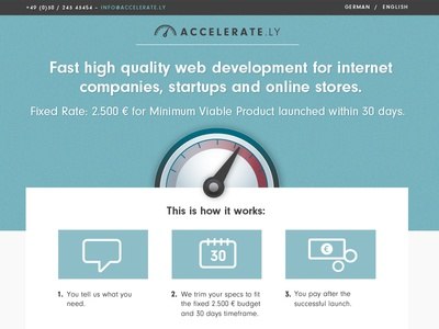 Accelerate.ly webdesign